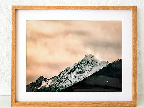 """Cadre Photo 50x40cm """"Montagnes dorées"""""""