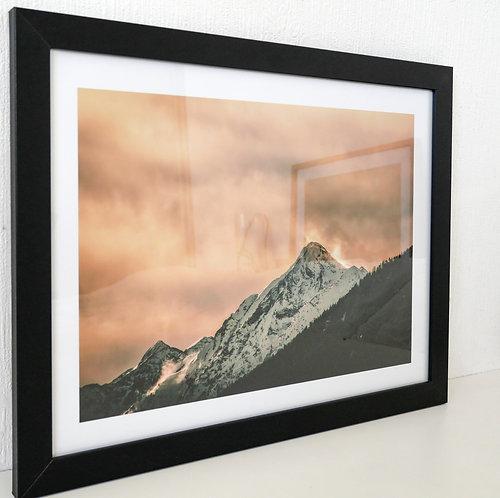 """Cadre Photo 45x34cm """"Montagnes dorées"""""""