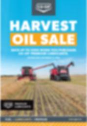 12533 Harvest Oil Sale Window Cling_12x1