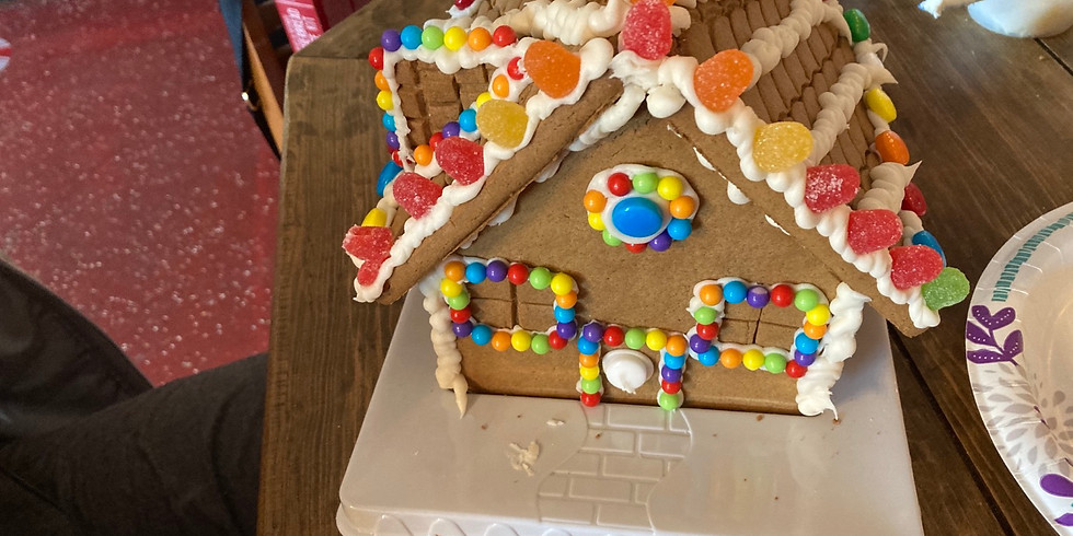 Kids cookie and gingerbread house decorating