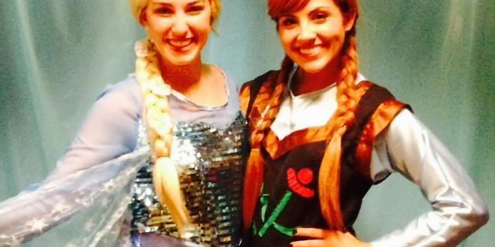 Tea party with Elsa and Anna