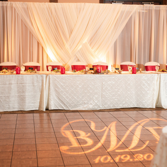 Monogram and Backdrop