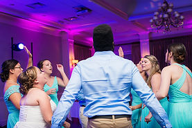 Bridal Party Dance with Uplighting