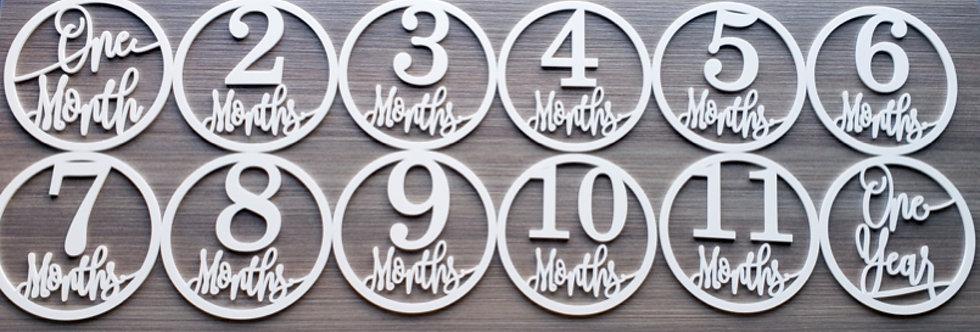 Acrylic Baby Milestone Markers