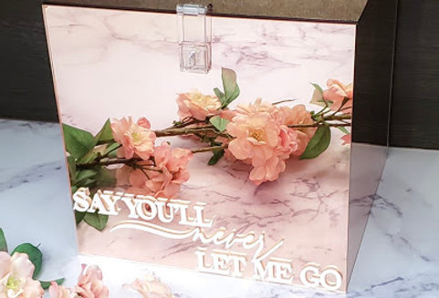 "Mirrored Acrylic Gift Box (10""x10""x10"")"