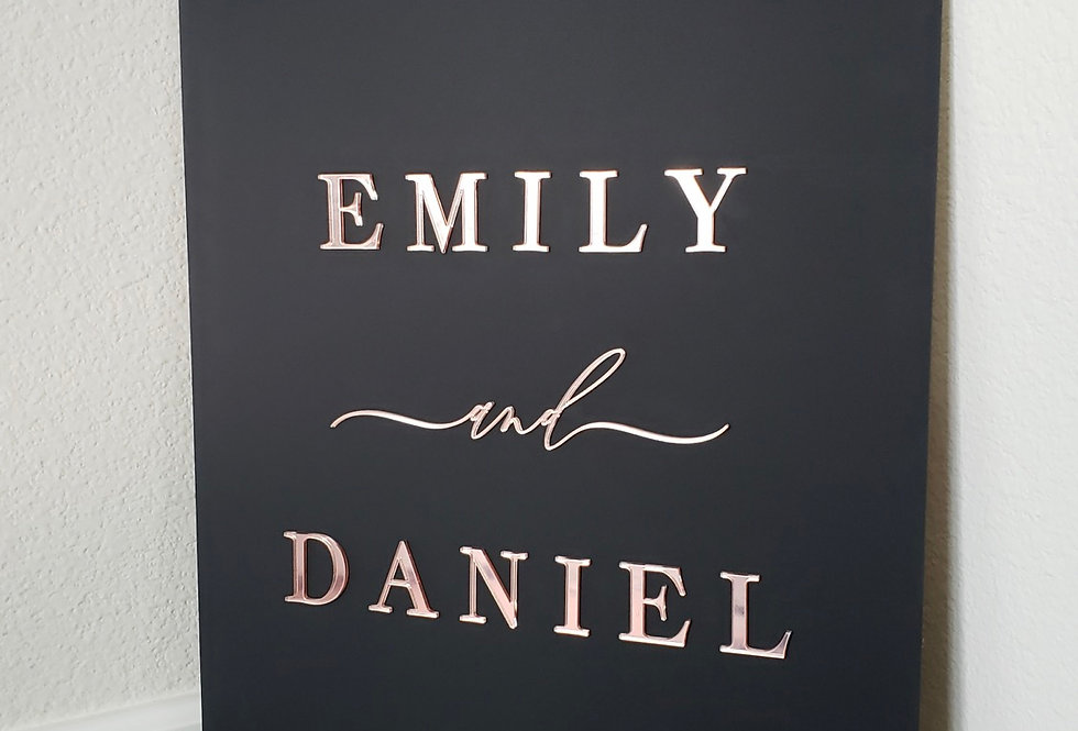 Matte Black Acrylic Sign