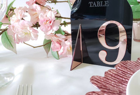 Classic Acrylic Table Numbers (Set of 15)