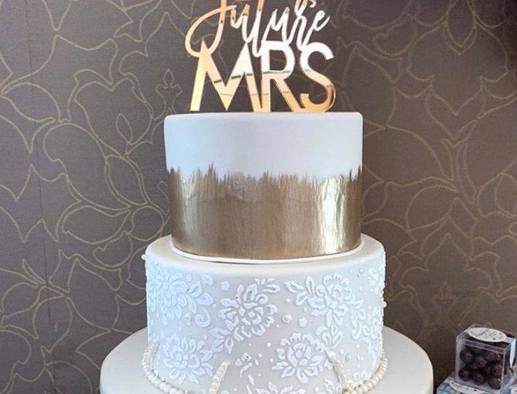 Acrylic FUTURE MRS Cake Topper