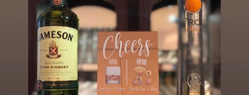 His & Hers Acrylic Bar Menu