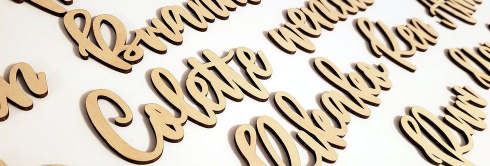 Wooden Name Place Cards