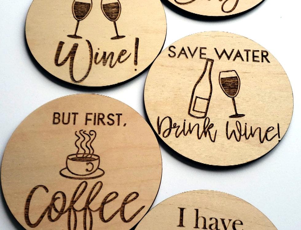 Custom Wooden Coasters (Pack of 6)