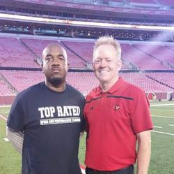 Louisville head Coach Bobby Pertrino