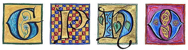 Lettrines ornées/calligraphie lombarde