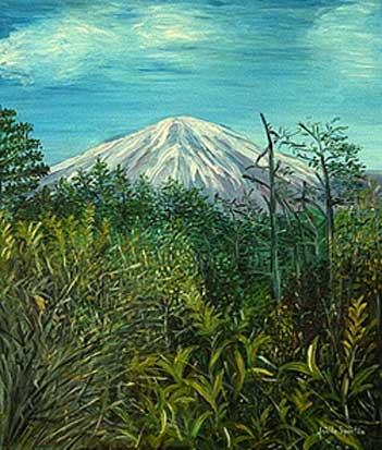 Eté indien, Fuji yama - Japon