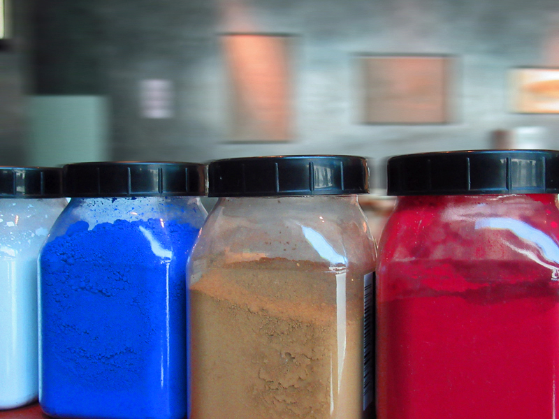 Couleurs des pigments