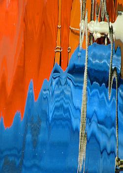 Reflets bleus orangers