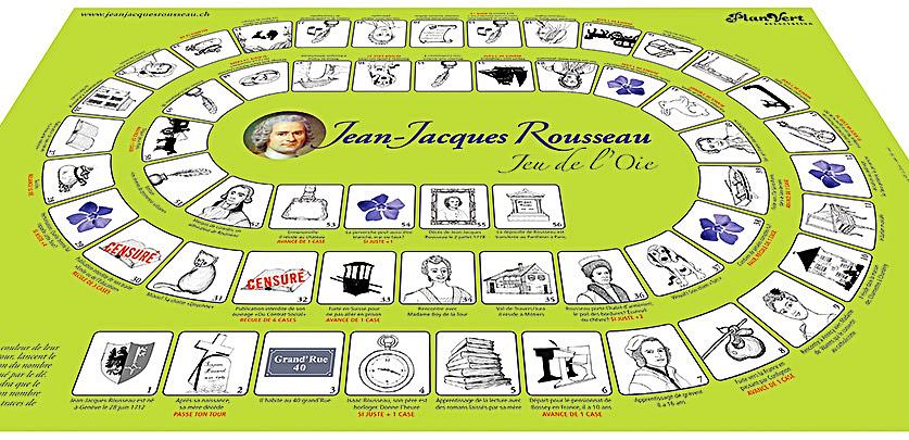 Jeu de l'oie Jean-Jacques Rousseau