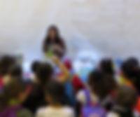 Présentation aux enfants au Salon du LIvre 2018 à Genève