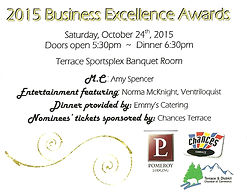 Invitation to Terrace Chamber of Commerce Awards Ceremony