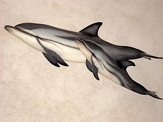 Dauphins bleu et blanc 85cm et 120cm