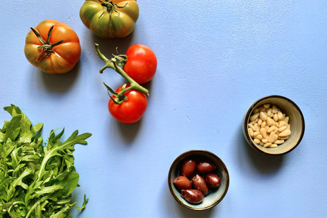 Ein leckerer Salat braucht nicht viele Zutaten..