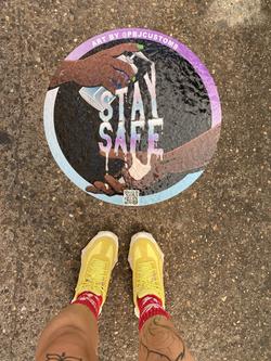 'Stay Safe' on the Sidewalk
