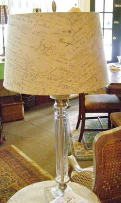 Tall Crystal Lamp