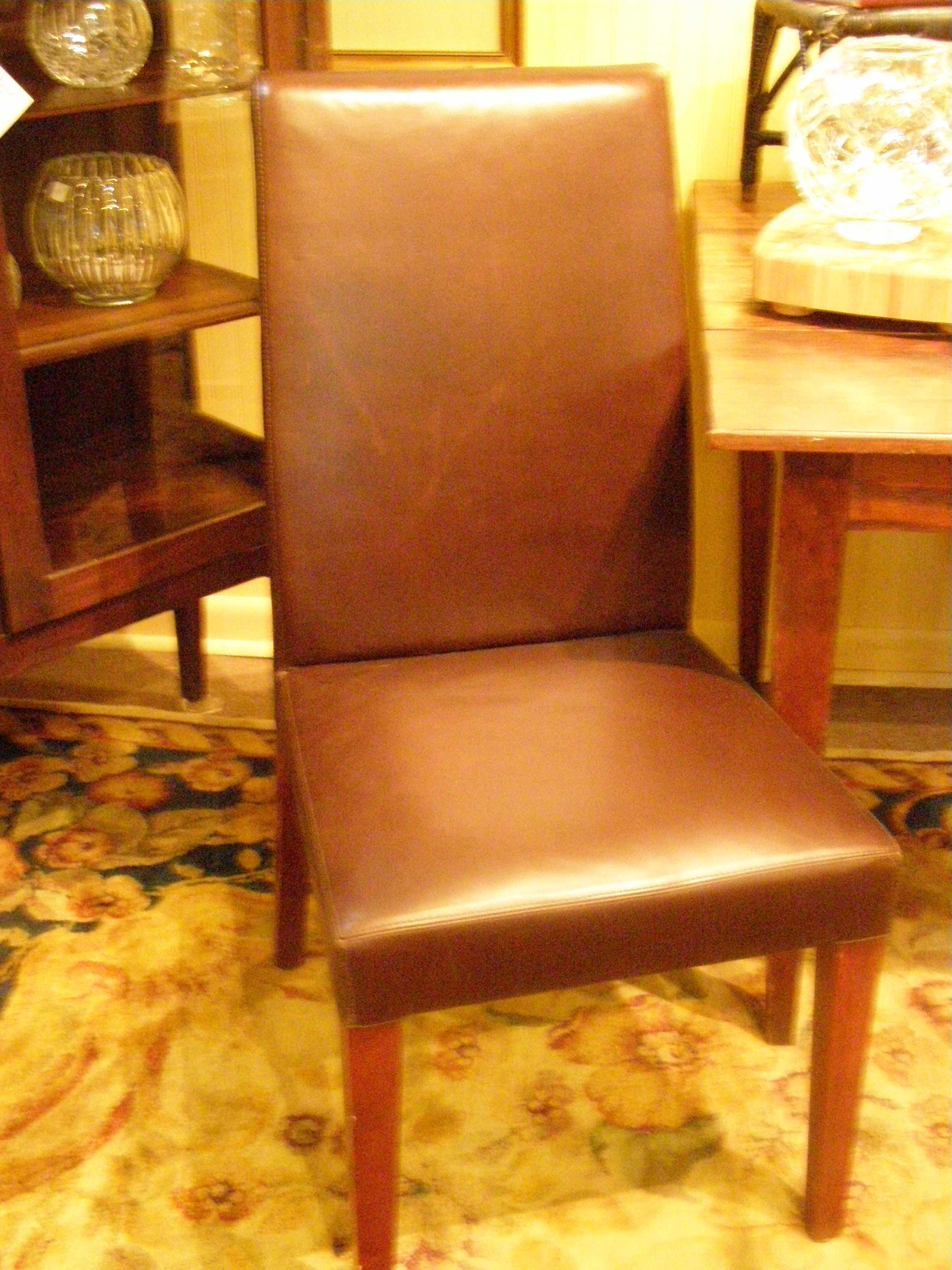 4-Leather Parson's Chairs - $180 pr