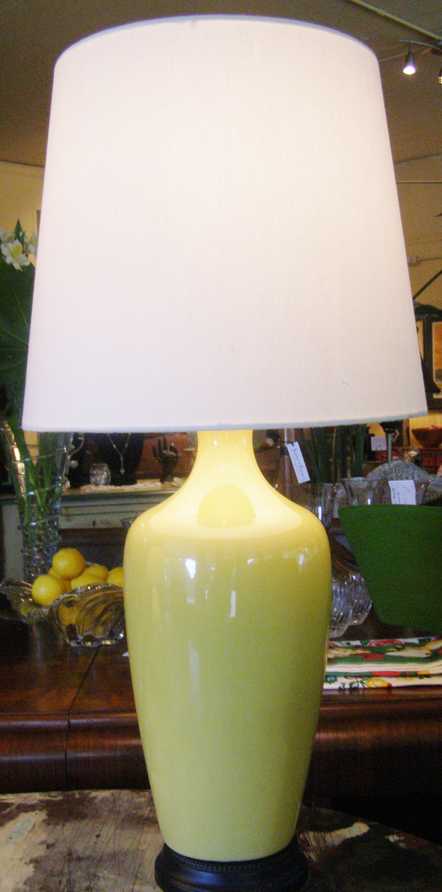 Tall Yellow Lamp