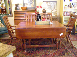 Drop Leaf Table & 4 Chairs - $845