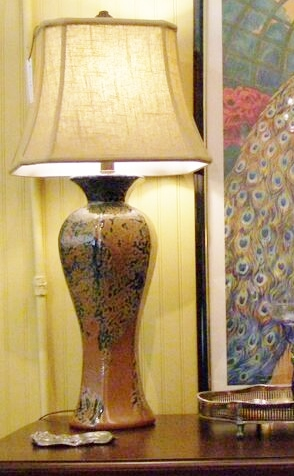 Tall Pottery lamp