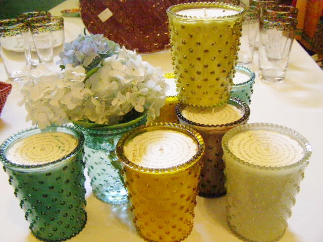 Simpatico Hobnail Candles