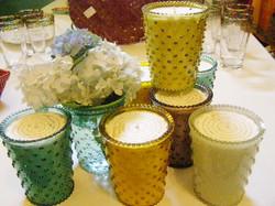 Simpatico Hobnail Candles