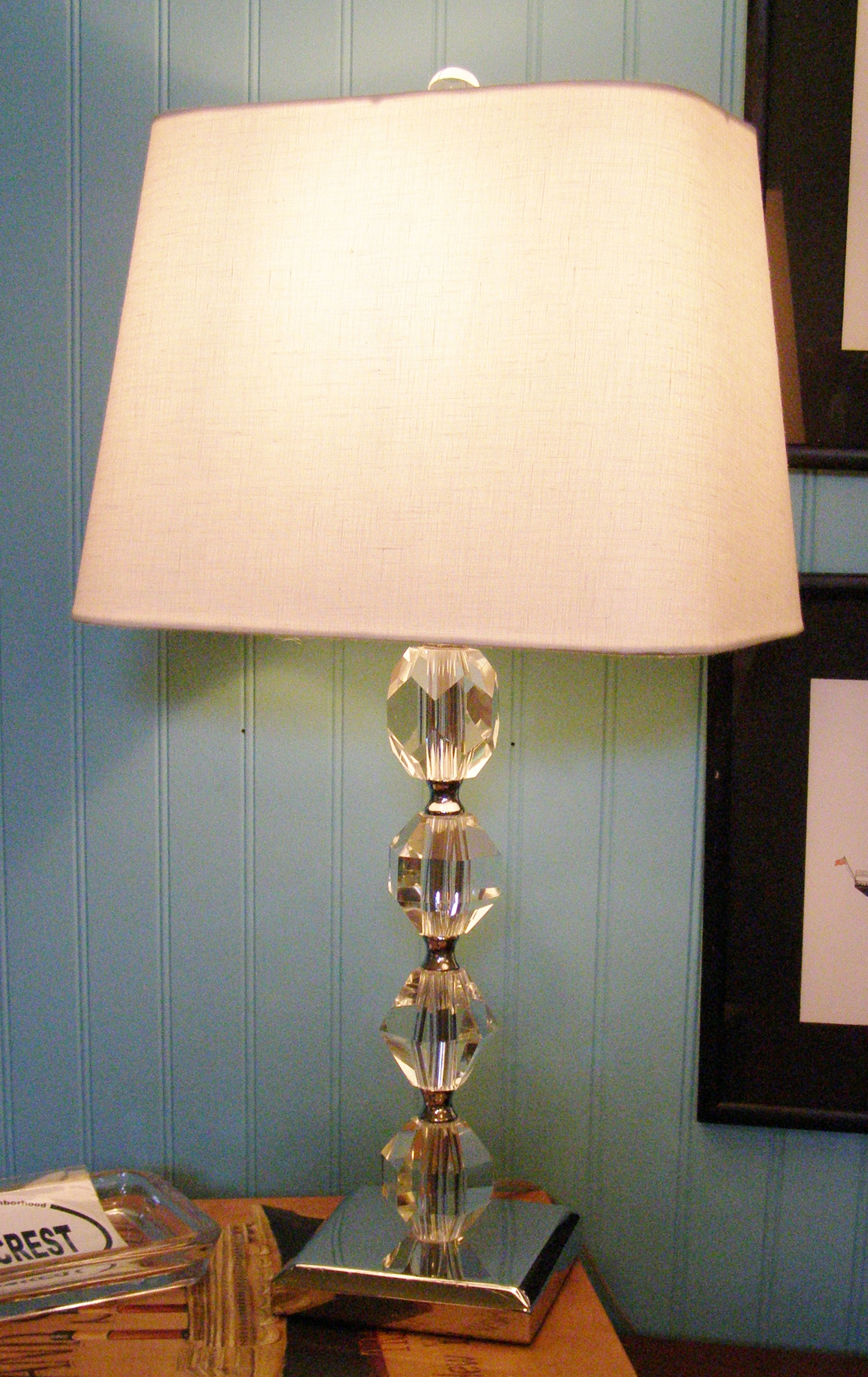 Lucite & Chrome Lamp