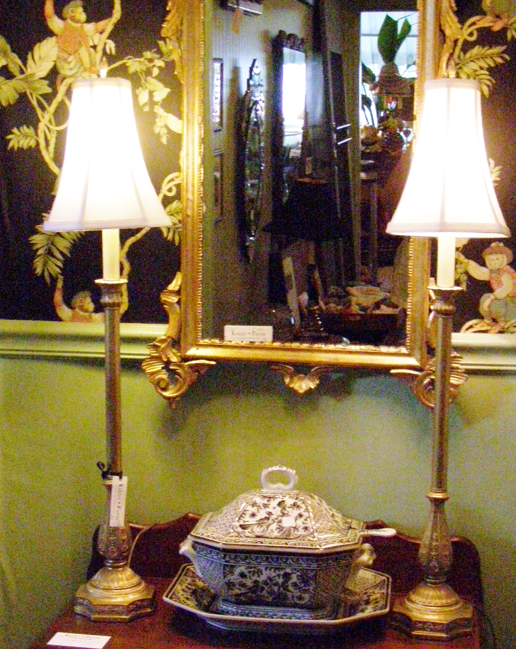 Gold Candlestick Lamps