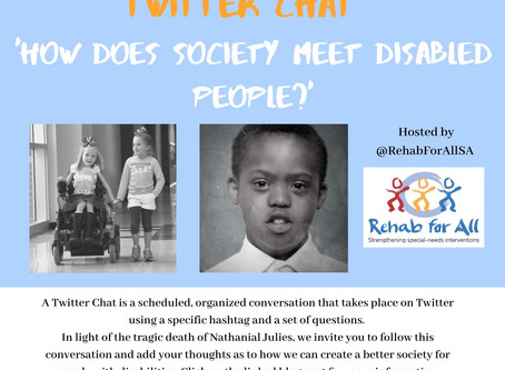 How does society meet disabled people?