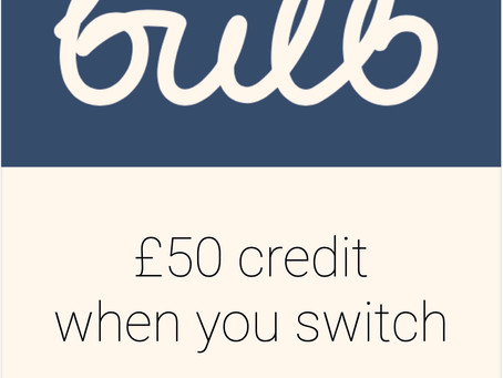 Save money by switching to Bulb and get £25 or £50 voucher