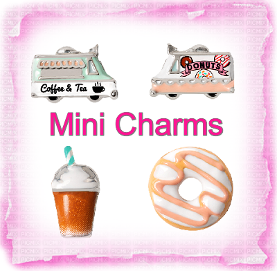 MINI CHARM POST  COFFEE TRUCK AND DONUTS