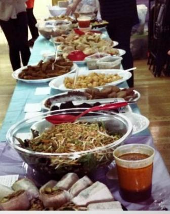 Vegan Food Table