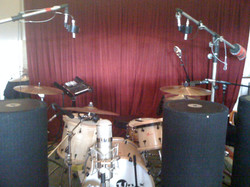 Recording drums At Clubhouse