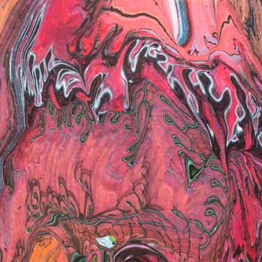 Inner Space 16Wx20H Painting (Closeup)