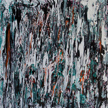 Liquescent Curtain 30Wx30H Painting