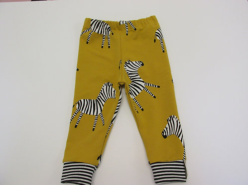 *Limited stock*Mustard Zebra  Leggings 0-3 Months to 12-18 Months