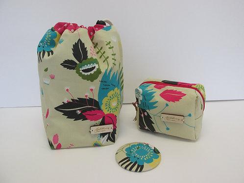 Drawstring bag, Cube & Pocket Mirror set 2711