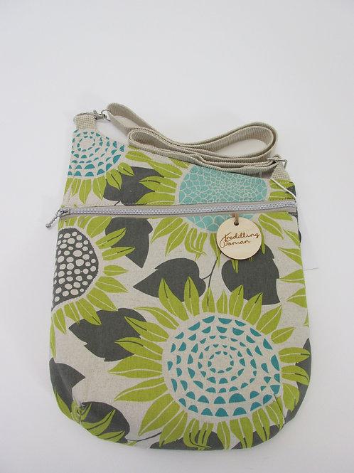 Cross body bag in Sunflower print