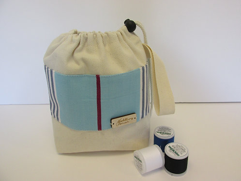 Small canvas drawstring Project Bag