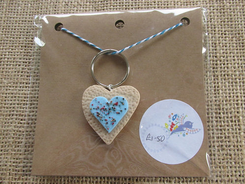 Heart place keeper/keyring 658