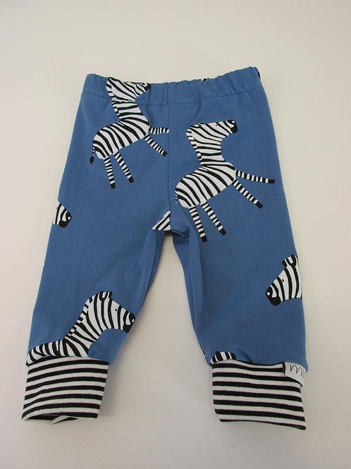 Blue Zebra Leggings 0-3 Months to 5 Years