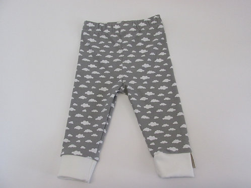 Fluffy Grey Cloud Leggings 0-3 Months to 5 Years