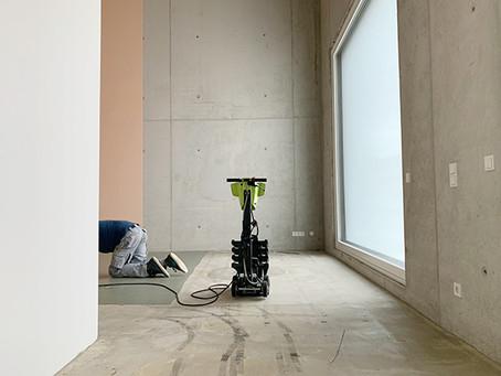 Bodenarbeiten im Atelierhaus Wien 10